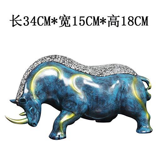 Powzz ornament Ornamente Dekoration Decor-Stein Geomantische Verzierung des Elefanten, Die Neuen Wohnzimmerweinschrank-Bürodekorationsgeschäftsgeschenk, Geschenk, Geld Und Vieh, Rhinoceros-Mond (NAS