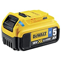 Dewalt DCB184B-XJ 18 V 5.0 Ah Bluetooth Slide Li-Ion Battery Pack