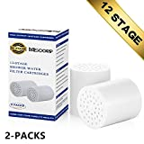 Miscorp 12-stage cartuccia del filtro di ricambio per filtro doccia di alta uscita universale JSQ01S (2-Packs)