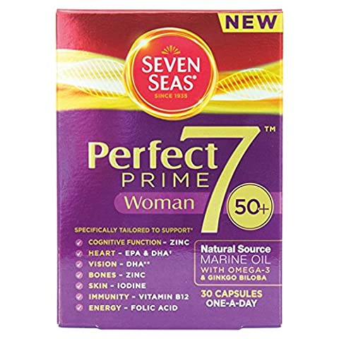 Seven Seas Perfect 7 Prime Woman Multivitamin One-A-Day Capsules - Pack of 30