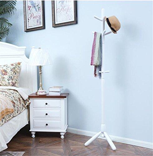 Bjff® appendiabiti legno massello tipo di pavimento facile leva singola appendiabiti moderno semplice appendiabiti ad angolo soggiorno camera da letto appendini,white