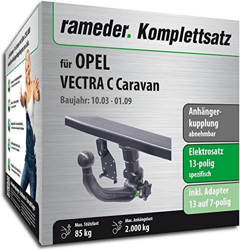 Rameder Komplettsatz, Anhängerkupplung abnehmbar + 13pol Elektrik für OPEL Vectra C Caravan (117030-05057-1)