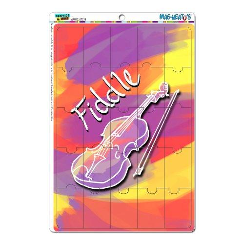 Fiddle–Musikinstrument Musik Saiten Band Orchester Bluegrass Land Pink Mag-Neato 's-TM) Neuheit Geschenk Locker Kühlschrank Vinyl...