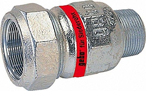 GEBO Temperguss-Klemmverbinder mit AG Wasser PN10- Typ A 1 1-2'' Stahlrohr x 51-0mm Siederohr