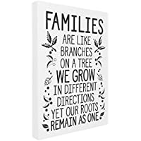 "Stupell Industries Families are Like Branches Oversized Stretched Canvas Wall Art, Proudly Made in USA, Multicolour, 24"" x 30"" preiswert"