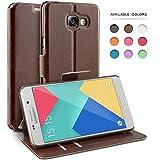 Coque Samsung Galaxy A5 (2016), TheBlingZ.® Housse Etui Cuir PU Coque pour Samsung Galaxy A5 (2016) - Marron
