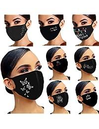 Glänzend Strass Mundschutz Diamant Print ���������� ���������������� Wiederverwendbar Stoff ���������� Baumwolle Mund-Nasen Bedeckung Atmungsaktiv Multifunktionstuch Halstuch Schals für Damen