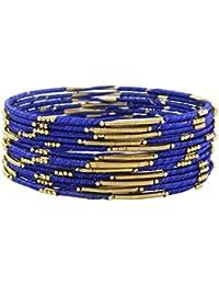 82f21c7c223b Banithani pulseras de hilo envuelto i dorado indio regalo de joyería de  moda para ella sz