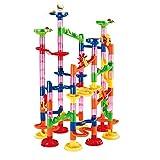 Eizur Kugelbahn, Konstruktionsspielzeug DIY Bausteine pädagogisches Lernspielzeug Murmelbahn für Kinder(105pcs)