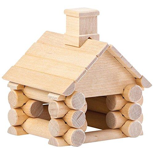 Natureich DIY Holzhaus 3D Puzzle Bausatz Holzspielzeug 31 - Teilig zur Förderung der Koordination, in Natur / Set ab 5 Jahre für die frühe Motorik Entwicklung & Ausbildung Ihres Kindes