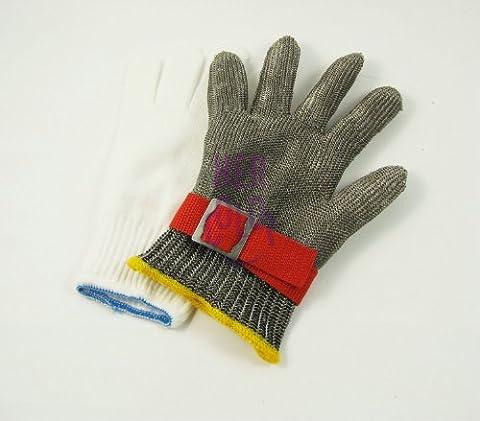 Metall Stahlgitter Sicherheitsmaßnahme Glove Vollfinger Handschuhe Schutzbrille Cut Proof Schützen