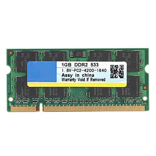ASHATA Desktop-Speicher DDR2, DDR2-Speicher 533MHz Hohe Speichergeschwindigkeit, 2 GB 200Pin für Laptop Motherboard-Speicher RAM-Computer für DDR2 PC2-4200-Laptop, Intel/AMD -