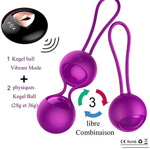 PINA 2 in1 Boules de Geisha Silicone équipement d'entraînement du Plancher pelvien avec 10 Vibrant Mode,Mini Vibromasseur Telecommande pour Femme Silencieux, Rechargeable Oeuf Vibrant Vibrateur