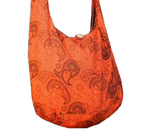 "BenThai Products, Borsa a tracolla donna, Blu (blu), Height: 14"" Orange PL19"