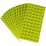 Premium Big Briks Lime Green Baseplate Set - 12 Pack - (Big LEGO DUPLO Compatible) - Large Pegs