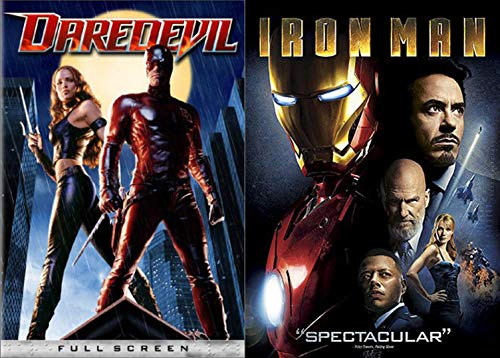 IronDevil Armor Double Marvel Feature Iron Man + Daredevil DVD with Stan Lee Documentary features
