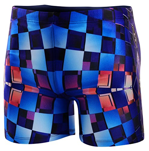 Demarkt fashion trend Herren Schwimmhose Badeshorts Badehose Badeboxer Kastenbadehose Badeslip Badepants Blau18