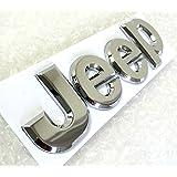 Cromo de Jeep de adhesivo de Logo de metal de cromo–Parche de emblema de de etiqueta de pegatinas Jeep de anderder de pegatinas de metal logotipo–Parche de 3d de pegatinas