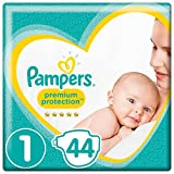 Pampers Premium Protection New Baby Size 1, 44 Nappies, 2-5 kg