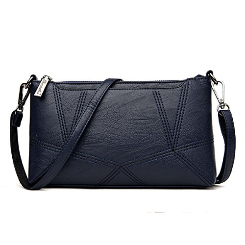 Dame Clutch Weibliche Stitching Korean Fashion Einfache Wild Messenger Bag Umhängetasche D