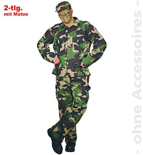 Unbekannt Rambo Kostüm Herren Soldat Camouflage Dschungelanzug Herrenkostüm