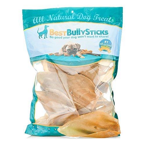 Best Bully Sticks Hundeleckerlis, 100% natürlich, Kuhohren, 15 Stück