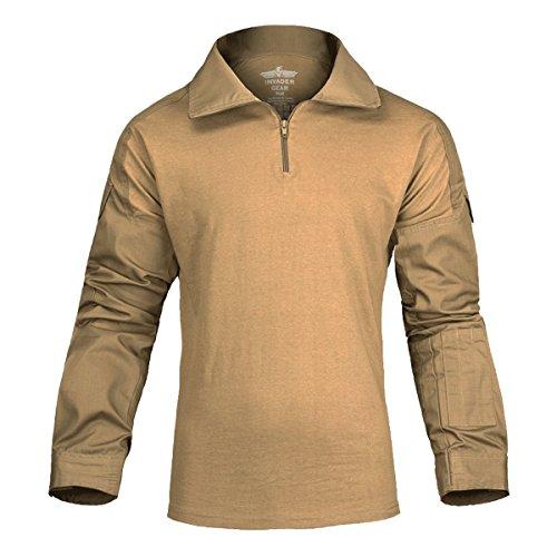 Invader Gear Combat Ubacs Shirt Coyote Brown Airsoft Cadet Tactical Uniform