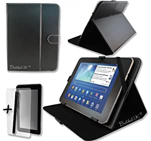 Black PU Leather Case Cover Stand for GEMINI JoyTAB Duo 9.7'' 9.7 inch ANDROID TABLET PC + Screen Protector + Stylus Pen