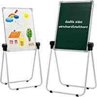 DOEWORK Tableau Blanc pour Enfants Chevalet d'art pour Enfant Chevalet Double-Face Tableau Blanc et Noir avec Support et…