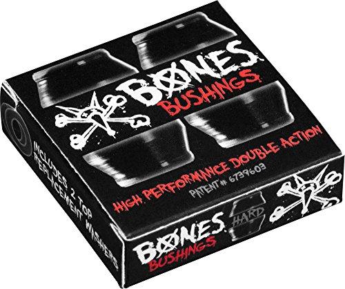 Bones Hardcore 4pc Hard Schwarz/Schwarz Lenkgummis (Bones-bushings)
