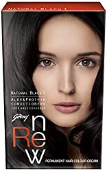 Godrej Renew Crme Hair Colour, Natural Black, 80g