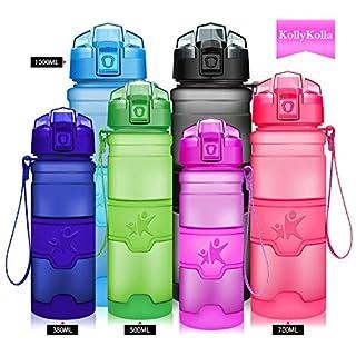 KollyKolla Sport Trinkflasche BPA-frei Auslaufsicher Wasserflasche, 700ml Tritan Sportflasche Kunststoff mit Filter für Kinder, Schule, Mädchen, Wasser, Fahrrad, Gym, Yoga, Camping, Matte Lila