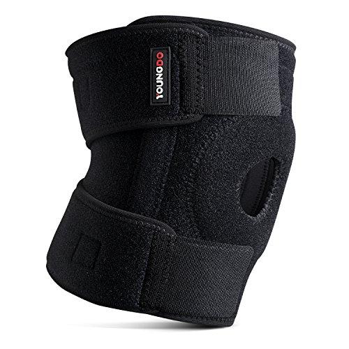 Youngdo Kniebandage, Atmungsaktiver und Verstellbare Knieschoner zur Wirkungsvollen Unterstützung, Befestigung und Schultz der Knie, Professionelle Knieschützer für Damen und Herren. (Herren-basketball - Professionelle)