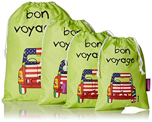 Incidence Paris Organizer per valigie, verde (Verde) - 61339