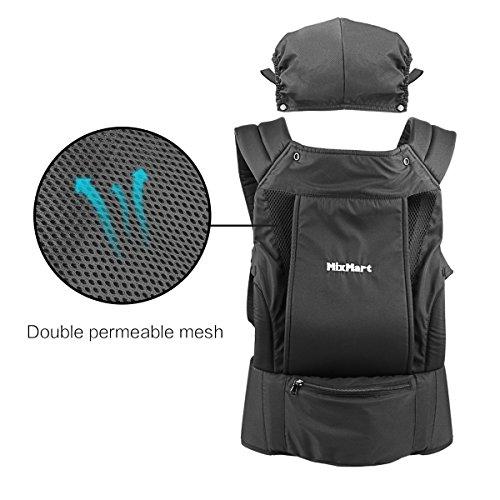 Mixmart porte b b ventral et dorsal randonn e 3 en 1 sac dos respirant pour vacances - Sac a dos porte bebe decathlon ...
