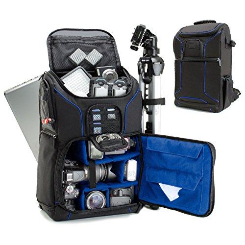 rucksack, Foto Rucksack Anti-Shock Kameratasche mit 43,18 cm Laptop-Tasche, Wasserdichte Abdeckung, Verstellbare Linse Lagerung & Stativhalter - Blau ()