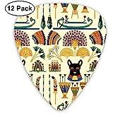 Black Cats Goddesses Bastet Ancient Egypt 12er Pack für E-Gitarre, Akustikgitarre, Mandoline und Bass