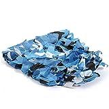 YONGYAO 1Mx1M Camo Camouflage Net Per Copertura Auto Campeggio Nascondi-Mare Blu