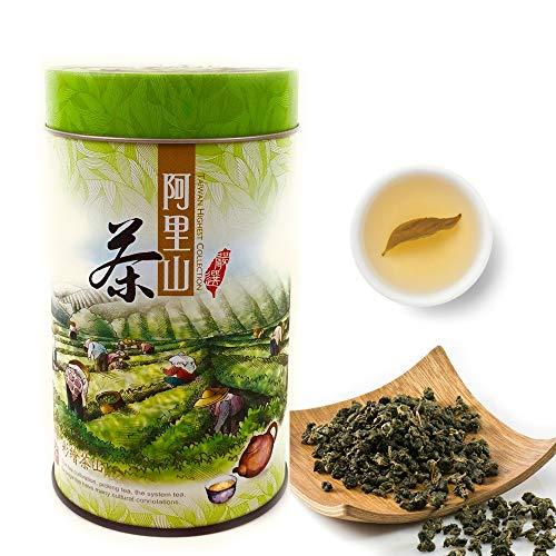PJT Prime New Oolong Tea Organic Loose Leaf, Taiwan Alishan High Mountain Tea - Fresh Flavor Delicious Health Attributes Unique Aroma