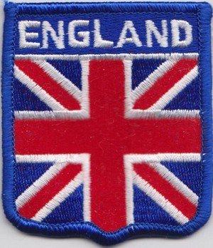 Union Jack Inghilterra bandiera ricamato distintivo (A085)