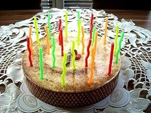 24 Velas de cumpleaños en Forma de Espiral, Velas de cumpleaños, Incluye 12