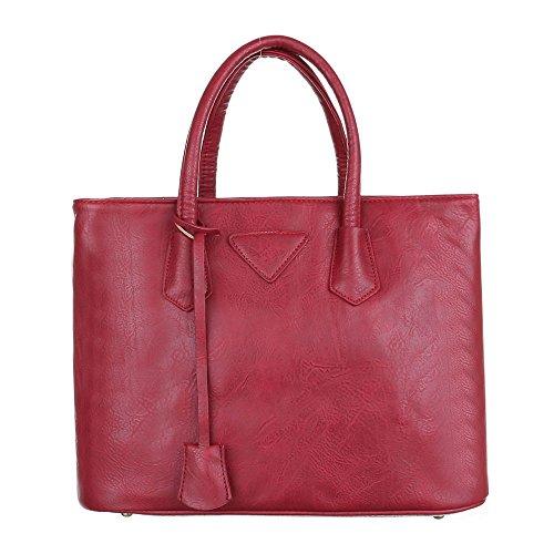 Damen Tasche, Schultertasche, Große Handtasche, Kunstleder, TA-C2185 Rot