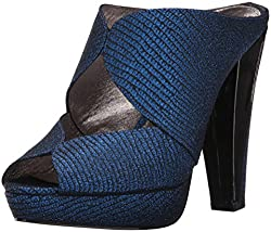 Adrianna Papell Womens Garret Mule, Blue, 9.5 UK/9.5 M US