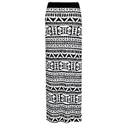 H.A.A.S® Ladies Printed Gypsy Maxi Skirt Women's Elasticated Waist Jersey Bodycon Skirt