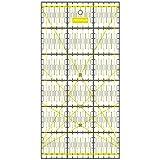 SEMPLIX Patchwork-Lineal Quilt-Lineal, transparent, mit cm Skala und Winkelfunktionen, ideal für Patchwork und zum Basteln, 30 x 15 cm (gelb)