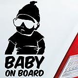 Auto Aufkleber in deiner Wunschfarbe Baby an Board Baby an Bord für Hangover Fans 19x10 cm Autoaufkleber Sticker