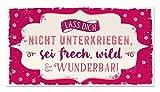 Grafik-Werkstatt 60864 Wand-Schild   Vintage-Art   Lass Dich Nicht Unterkriegen….   Retro   Nostalgic   Pappschild mit Kordel  Deko-Schild Cardboard, Pappe, Bunt, 22 x 12 cm