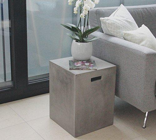 ... Hambiente Betonhocker Betonmöbel Beistelltisch Beton 35 X 35 X 46 Cm  Mit Griffmulden Für Innen Und ...