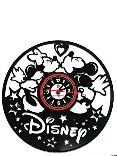 Meet Beauty Ding Niedliche Mickey Mouse Disney Anime Vinyl Record Wanduhr kreative Kinderzimmer Kunst Dekor - einzigartige handgefertigte Geschenkidee für Jungen Mädchen Halloween ()