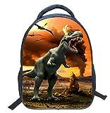 ACMEDE Dinosaur 3D Boys Zaino Sacchi di Scuola di Stampa Animali per Bambini Dinosauro Zaino